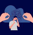 psychotherapy mental disorder sad man vector image vector image