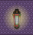 ramadan with lantern vector image