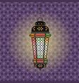 ramadan with lantern vector image vector image