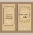 restaurant menu with drinks and food templates vector image vector image
