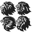set lion head logo collection premium vector image vector image