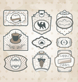 Set of vintage ornate labels vector image
