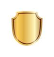 shield gold icon shape emblem vector image vector image