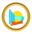 Sign Miami icon vector image vector image