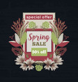 spring sale special offer floral decoration vector image vector image