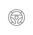steering wheel thin line icon linear vector image vector image