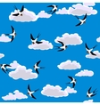 swallow flying vector image vector image