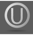 The letter U Polygonal letter Abstract Creative vector image vector image