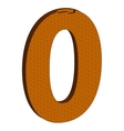 The number in the form of brickwork vector image