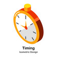 timing isometric vector image vector image