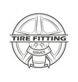 tire fitting service vector image