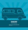 transport van vehicle design vector image vector image
