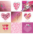 valentines day set - greeting cards love vector image vector image
