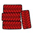 wheel icon cartoon vector image vector image