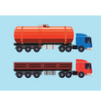 flat of trucks vector image