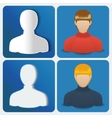 Set of four User icon of women vector image