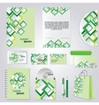 Green corporate style vector image