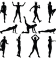 fitness woman vector image