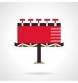Red billboard Flat icon vector image