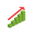 3d isometric graph isometric graph in trendy flat vector image