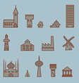a set of buildings vector image vector image