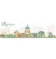 Abstract Olympia Washington Skyline vector image vector image