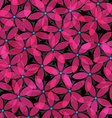 abstract pink flowers seamless vector image vector image