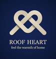 abstract roof heart symbol vector image vector image