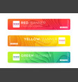 abstract web banner or header design templates vector image
