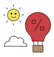 air balloon icon summer sale related vector image vector image