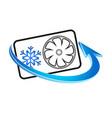 air conditioning symbol vector image vector image