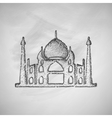 arabic palace icon vector image vector image