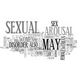 arousal disorders a curse to one s sex life text vector image vector image