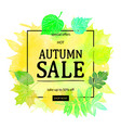 autumn leaves watercolor texture vector image vector image