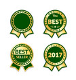 award ribbon best seller set vector image