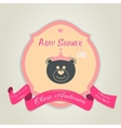 Baby shower invitation with teddy bear toy vector image vector image