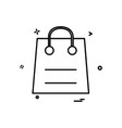 bag retail sales shopping icon design vector image