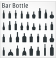 Bar bottle icon vector image vector image