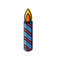 birthday candle isolated vector image vector image