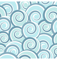 Blue abstract seamless pattern with swirls vector image