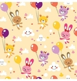 bunnies and bears cute seamless pattern vector image vector image