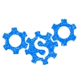 Business Gears Grainy Texture Icon vector image vector image