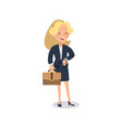 businesswoman character animate character young vector image vector image