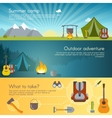 Camping Banners Set vector image vector image