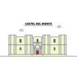 castel del monte line travel landmark skyline vector image vector image
