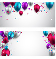Celebrate banners with balloons vector image