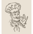 chef sketch vector image