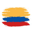 colombia flag colombia flag vector image vector image