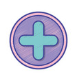 cross medicine symbol to help the people vector image vector image