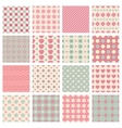 cute and trendy patterns vector image
